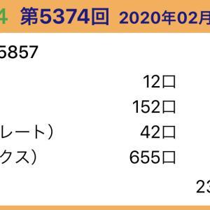 【ナンバーズ4】2月20日、5374回結果