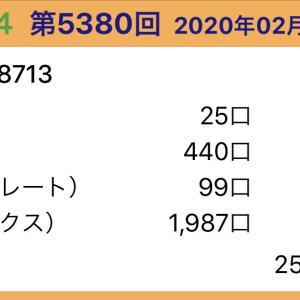 【ナンバーズ4】2月28日、5380回結果