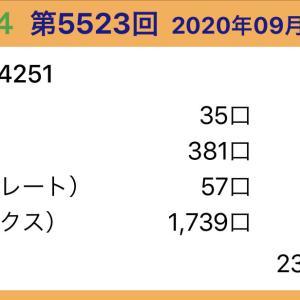 【ナンバーズ4】9月16日、5523回結果