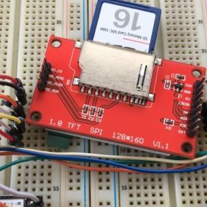 XIAOと1.8インチ小型液晶で小型フォトフレーム