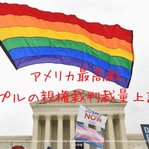 びっくり❗️アメリカ最高裁が同性婚間の親権に関する裁判の裁量上訴を棄却した。