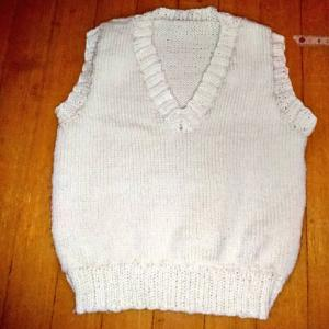 手編みのベスト