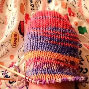 手編みの 靴下