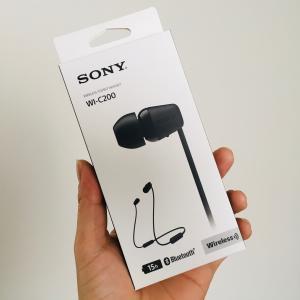 ソニーワイヤレスイヤホンWI-C200レビュー【音質は?充電の持ちは?】3000円台で満足です