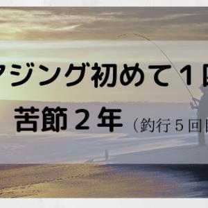 【ソロ釣行】アジングで初めて1匹【苦節2年釣行5回目】