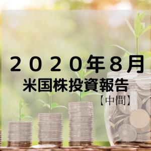 【2020年8月】しばげん米国株投資報告【まだまだ手探り】