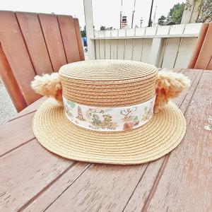 子供サイズに調整できる!絶対買うと決めてたダッフィーのカンカン帽♡