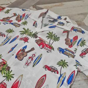 オル・メルバウンドに使えそうなアロハシャツのセットアップ