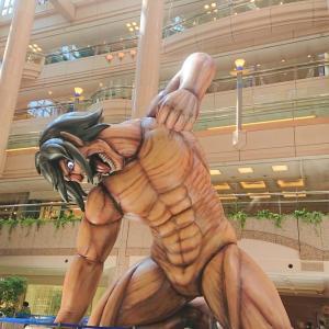 進撃の巨人に会いに横浜ランドマークに行って巨人の大きさを実感♪