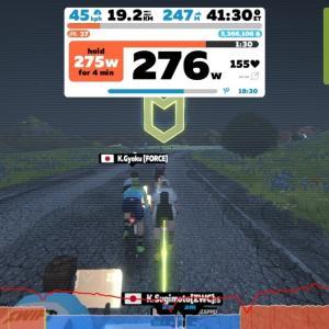 【ロードバイク】Zwiftで友人達とミートアップ_20200408