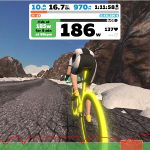 【ロードバイク】Zwiftインターバルトレーニングを開始した5日目_20200412