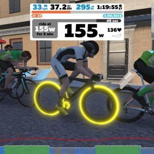 【ロードバイク】Zwiftインターバルトレーニングを開始した7日目_20200415