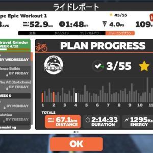 【ロードバイク】Zwiftインターバルトレーニングを開始13日目後_20200428