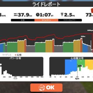 【ロードバイク】Zwiftインターバルトレーニング開始26日目_20200526