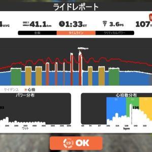 【ロードバイク】Zwiftインターバルトレーニング開始27日目_20200528