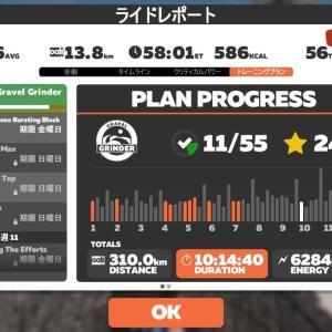 【ロードバイク】Zwiftインターバルトレーニング開始31日目_20200609