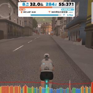 【ロードバイク】Zwiftインターバルトレーニング開始33日目_20200611