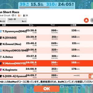 【ロードバイク】Zwiftトレーニング53日目_ベーストレ&Zwiftレース_20200723