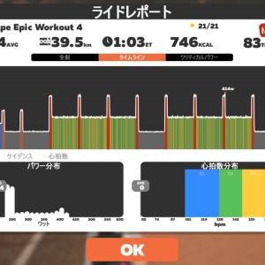 【ロードバイク】Zwift2部練_20210121