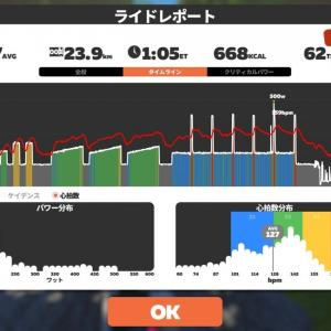 【Zwift】4. Strength Tempo #1_20210421