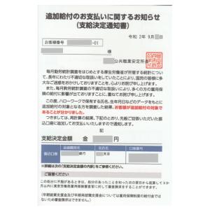【雇用保険の追加給付】昨年12月に申請してこの9月に受領した
