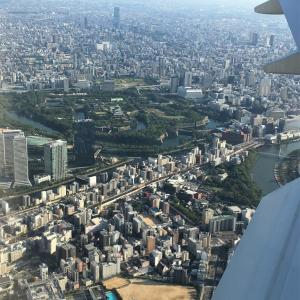 見どころ満載、大阪国際空港着陸前