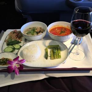 タイ国際航空、ある日のタイ料理機内食 ~ロイヤルシルククラス編~