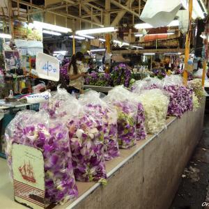 地下鉄の延伸で行きやすくなった、タイ最大の花市場 パーククローン市場