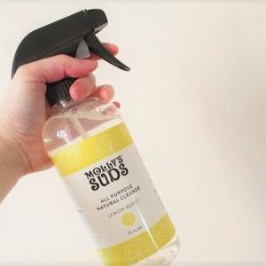 植物由来の安心クリーナー。Molly's Sudsのオールパーパスクリーナーで家中お掃除、年末大掃除!