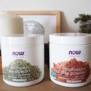「Now Foods」ヨーロピアングリーンクレイパウダー&モロッカンレッドクレイパウダー。アイハーブで人気のクレイパック2種類を比べてみました!