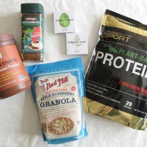 【iHerb*購入品紹介】食べ物&飲み物編。オーガニックのカフェインレス インスタントコーヒーや、植物性プロテイン、グルテンフリーグラノーラなど