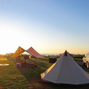 北海道キャンプ日和「初山別村オートキャンプ場」今年一番の夕日と星空と最高のウニ丼!