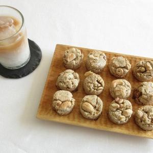 手作りのカシューナッツミルクを使って、オートミールでスコーンを作りました。