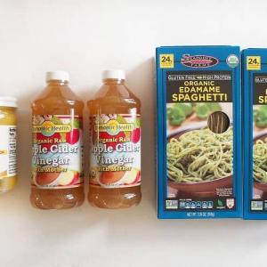 【iHerb*購入品紹介】リピートオーガニック食品編。ローアップルサイダービネガーや、枝豆スパゲッティなど