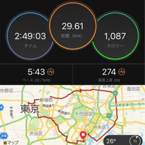 大江戸線ラン30キロ