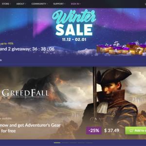 GOGにてWasteland 2が無料配布+最大95%割引のウィンターセール開催中!