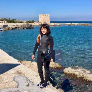 まだイタリアの海に入っている女/ 自己記録更新への道