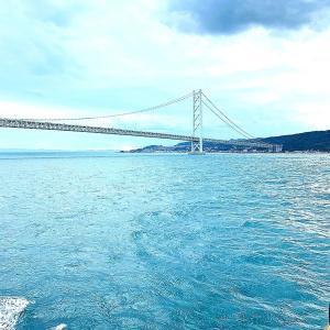 香川 小豆島の満喫Trip① フェリーで小豆島へ♪ 明石海峡大橋と絶景の夕陽(*^▽^*)