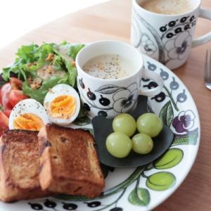 北欧食器のことと朝ごはん♪