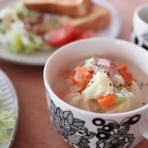 アラビアピーロパイッカにミルクスープ