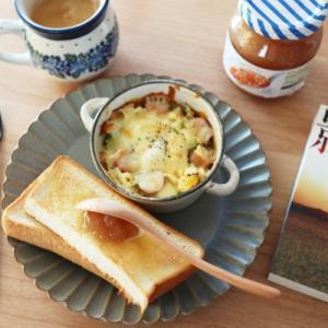 朝食・読書・手織り