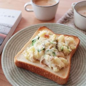 ポテトサラダパンの朝ごはんと大好きな本