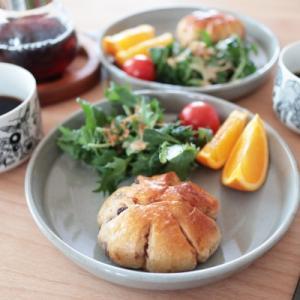 北欧食器とスタジオエムの食器で朝ごはん