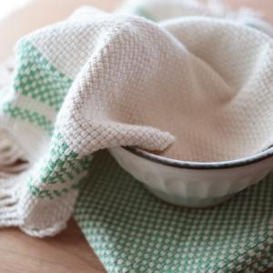 手織りのディッシュタオル完成~♪・朝ごはんのひととき