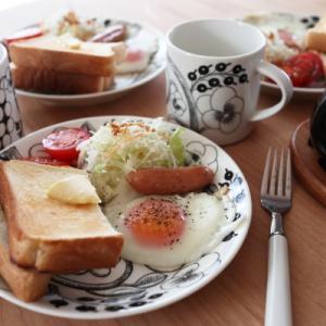北欧食器で朝ごはん