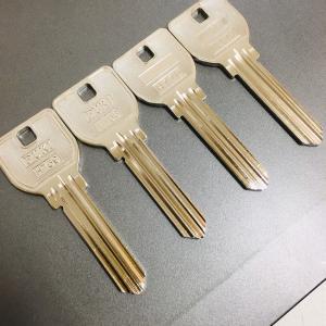 同じ種類でもブランクキーが数種類ある鍵