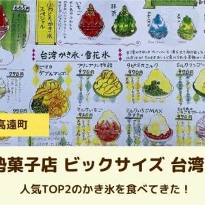 千登勢菓子店|伊那市|ビックサイズ!台湾かき氷で夏を楽しむ
