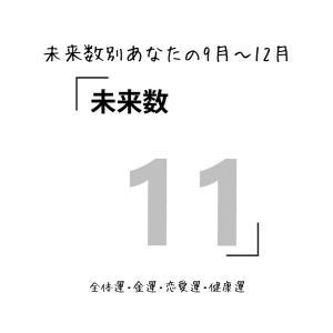 【数秘術でみる9月~12月運勢】未来数11の人【スピリチュアルメッセージ】