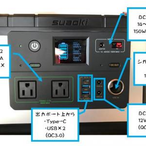 Suaoki G500 ポータブルバッテリー