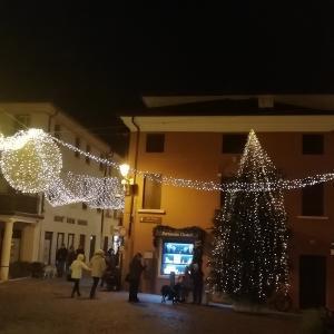 イタリア・バッサーノデルグラッパのクリスマスイルミネーション